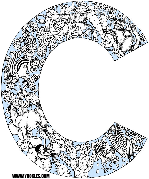Letter C Coloring Page by YUCKLES!