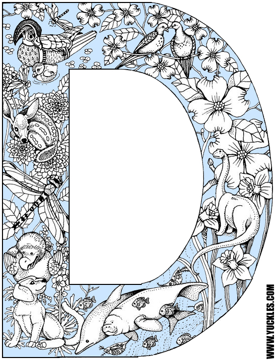 Letter D Coloring Page by YUCKLES