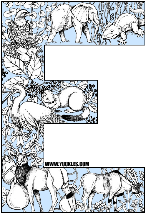 e coloring book pages - photo #29