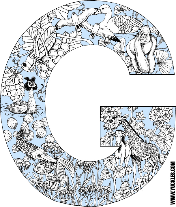 Letter G Coloring Page by YUCKLES!