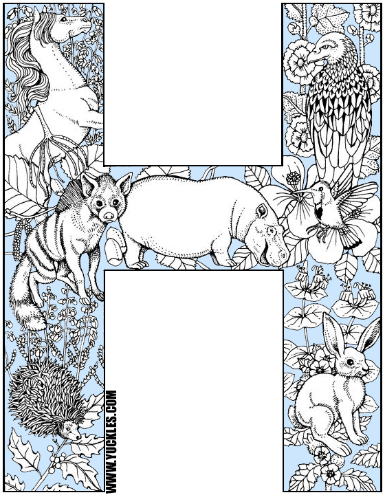 Coloring Pages For The Letter H. Alphabet Coloring Page H Letter by YUCKLES