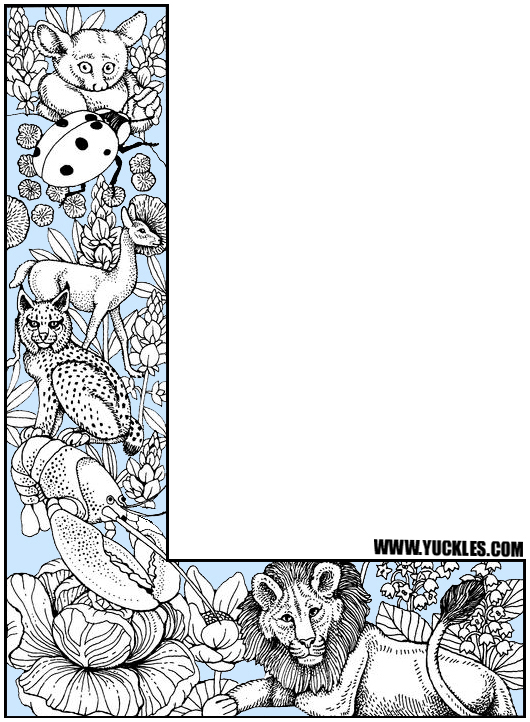 Letter L Coloring Page by YUCKLES!