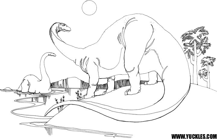 Apatosaurus Coloring Page by YUCKLES