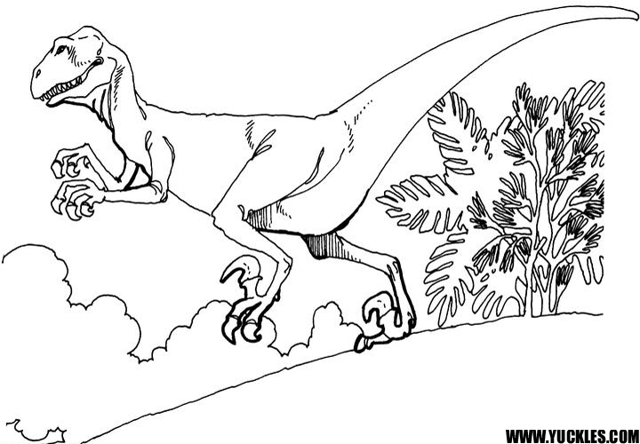 Deinonychus Coloring Page By Yuckles