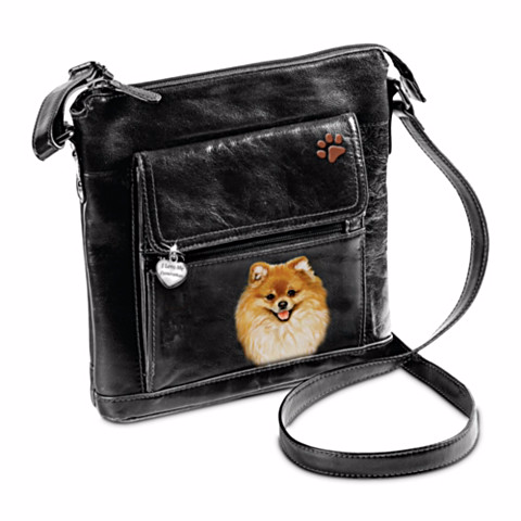 Pomeranian I Love My Crossbody Bag