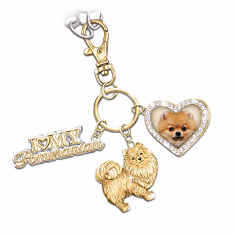 Pomeranian Lover's Key Chain