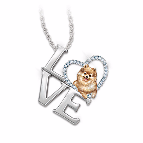 Pomeranian Loving Companion Pendant Necklace