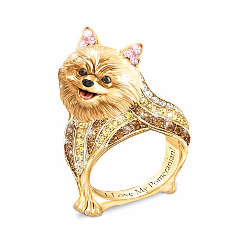 Pomeranian Best In Show Sculpted Women's Ring