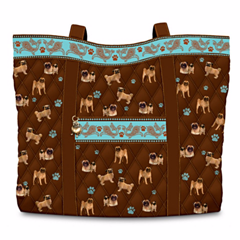 Pug Faithful Friend Quilted Tote Bag