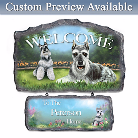 Personalized Welcome Sign for Schnauzer Lovers