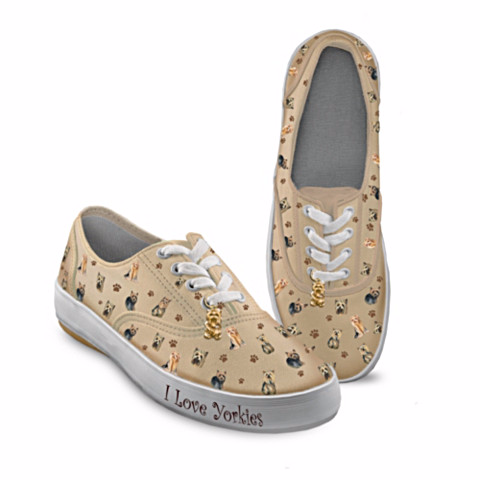 Yorkie Playful Pups Women's Sneakers