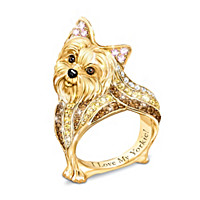 Yorkie Best In Show Sculpted Women's Ring
