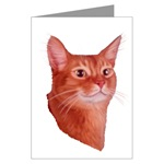 Abyssinian Cat Greeting Cards