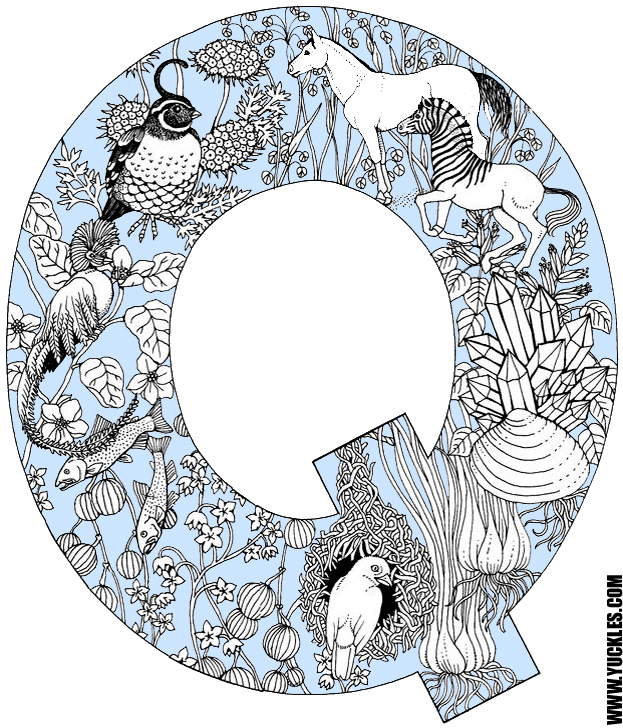 Letter Q Coloring Page by YUCKLES