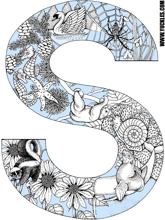 Letter S Coloring Page by YUCKLES