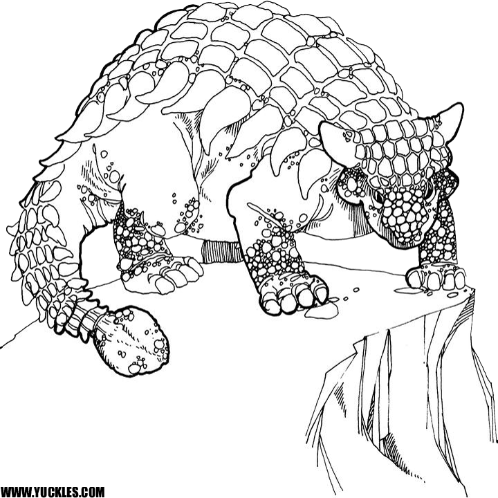 Ankylosaurus Coloring Page By Yuckles