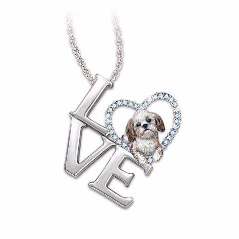 shih tzu necklace shih tzu gifts by yuckles 5351
