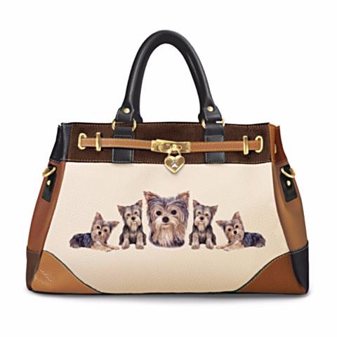 Yorkie Satchel Handbag